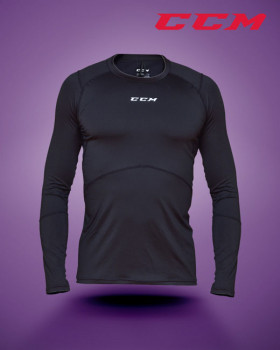 Compression long sleeve top with gel application
