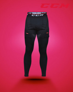Men's compression pant with gel application/jock/tabs